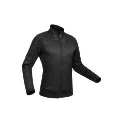 Kurtka hybrydowa SH900 X-WARM. Czarne kurtki sportowe męskie QUECHUA, z polaru. Za 169.99 zł.