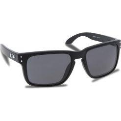Okulary przeciwsłoneczne OAKLEY - Holbrook OO9102-E855 Matte Black/Prizm Grey. Czarne okulary przeciwsłoneczne męskie Oakley, z tworzywa sztucznego. W wyprzedaży za 449.00 zł.