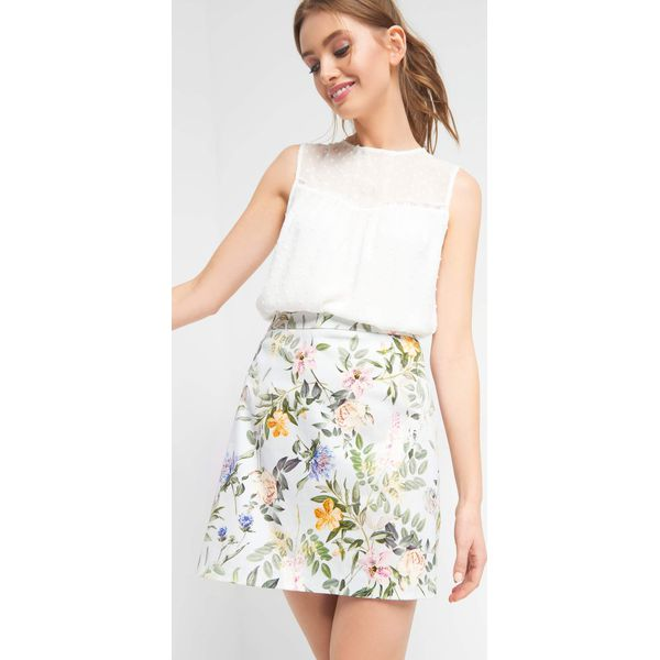 9a5a0541 Trapezowa spódnica w kwiaty