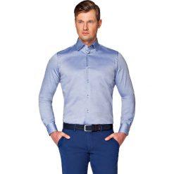 Koszula Granatowa Lopez. Szare koszule męskie LANCERTO, z bawełny. W wyprzedaży za 149.90 zł.