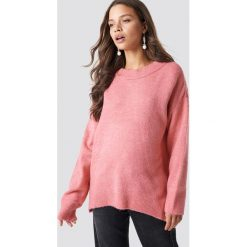 Trendyol Sweter Bike Collar - Pink. Różowe swetry damskie Trendyol, z materiału, z okrągłym kołnierzem. Za 80.95 zł.