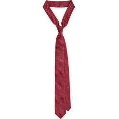 Krawat bordowy. Czerwone krawaty i muchy LANCERTO, w geometryczne wzory, z mikrofibry, eleganckie. Za 79.90 zł.