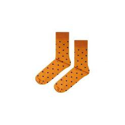 Skarpetki Mustard Dots. Niebieskie skarpety męskie marki Soxstory, z napisami. Za 16.00 zł.