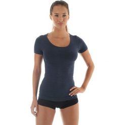 Brubeck Koszulka damska z krótkim rękawem COMFORT WOOL grafitowa r. M (SS11020). T-shirty damskie Brubeck. Za 131.75 zł.