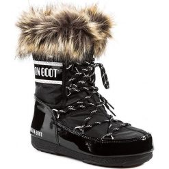 Śniegowce MOON BOOT - Monaco Low 24002900001 Nero/Black. Czarne śniegowce i trapery damskie Moon Boot, z futra. Za 649.00 zł.