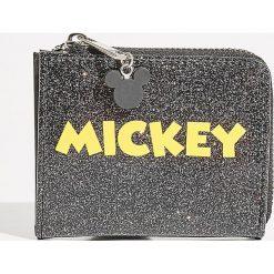 Portfel Mickey Mouse - Czarny. Czarne portfele damskie Sinsay, z motywem z bajki. Za 29.99 zł.