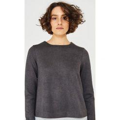 Simple - Bluza. Czarne bluzy damskie Simple, z elastanu. W wyprzedaży za 199.90 zł.