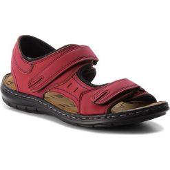 Sandały LANETTI - MSA426-1 Czerwony. Czerwone sandały męskie Lanetti, z materiału. Za 89.99 zł.