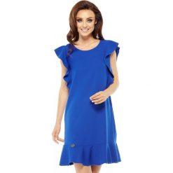 Sukienka z falbankami l248. Niebieskie sukienki dla dziewczynek Lemoniade, wizytowe. W wyprzedaży za 119.00 zł.