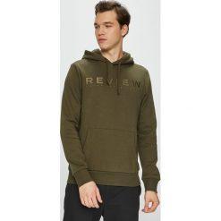 Review - Bluza. Brązowe bluzy męskie Review, z aplikacjami, z bawełny. Za 149.90 zł.