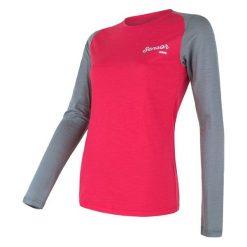 Sensor Koszulka Damska Merino Active Pt Logo Magenta/Szary L. Czerwone koszulki sportowe damskie Sensor, z wełny, z długim rękawem. Za 229.00 zł.