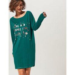 Koszula nocna - Zielony. Koszule nocne damskie marki MAKE ME BIO. W wyprzedaży za 59.99 zł.