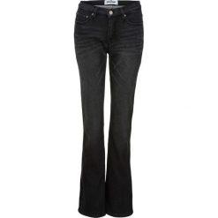Dżinsy dresowe ocieplane BOOTCUT bonprix czarny. Czarne spodnie dresowe damskie bonprix, z dresówki. Za 149.99 zł.