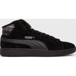 Puma - Buty Smash v2 Mid. Czarne buty sportowe męskie Puma, z materiału. W wyprzedaży za 239.90 zł.