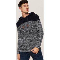 Sweter z kapturem - Granatowy. Niebieskie swetry przez głowę męskie House, z kapturem. Za 119.99 zł.