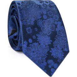 Jedwabny krawat KWNR000281. Niebieskie krawaty i muchy Giacomo Conti, z jedwabiu, eleganckie. Za 129.00 zł.