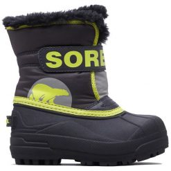 Sorel Chłopięce Śniegowce Snow Commander, 22, Szare/Żółte. Białe buty zimowe chłopięce Sorel. Za 269.00 zł.