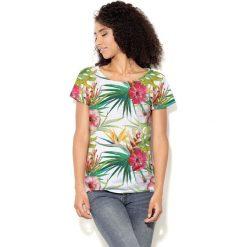 Colour Pleasure Koszulka CP-034  160 biało-zielona r. M/L. T-shirty damskie Colour Pleasure. Za 70.35 zł.