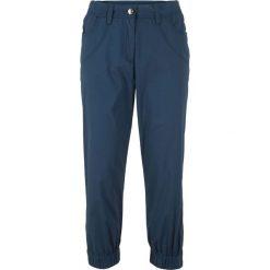Spodnie 3/4 bonprix ciemnoniebieski. Spodnie materiałowe damskie marki DOMYOS. Za 49.99 zł.