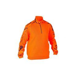 Sweter RENFORT 500 FLUO. Brązowe swetry przez głowę męskie SOLOGNAC. Za 129.99 zł.
