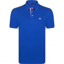 Koszulka polo w kolorze niebieskim. Niebieskie koszulki polo męskie Giorgio di Mare, z haftami, z bawełny. W wyprzedaży za 108.95 zł.
