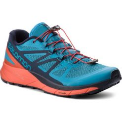 Buty SALOMON - Sense Ride 404848 29 V0 Fjord Blue/Cherry Tomato/Navy Blazer. Niebieskie buty sportowe męskie Salomon, z materiału. W wyprzedaży za 419.00 zł.