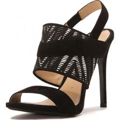 Skórzane sandały w kolorze czarnym. Czarne sandały damskie Stella Luna, z materiału. W wyprzedaży za 636.95 zł.