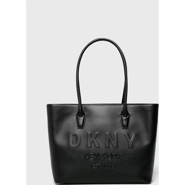 9122e67d8611c Dkny - Torebka skórzana - Torby na ramię damskie marki DKNY. Za ...