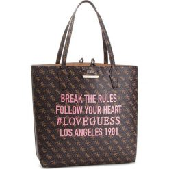 Torebka GUESS - HWSH64 22250 BROWN LOGO/CAMEL. Brązowe torebki do ręki damskie Guess, ze skóry ekologicznej. Za 649.00 zł.