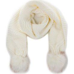 Szal GUESS - Not Coordinated Wool AW6800 WOL03 OFF. Białe szaliki męskie Guess, z aplikacjami, z materiału. Za 229.00 zł.