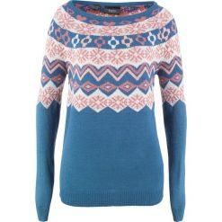 Sweter wzorzysty bonprix jasny indygo wzorzysty. Niebieskie swetry damskie bonprix. Za 74.99 zł.