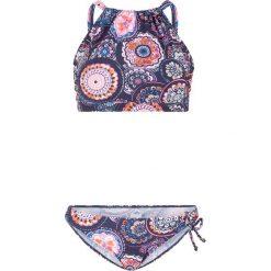 9ac389b6f4a579 Bikini (2 części) bonprix ciemnoniebieski z nadrukiem. Niebieskie bikini  damskie bonprix, z