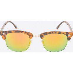 Jack & Jones - Okulary Marco. Brązowe okulary przeciwsłoneczne męskie Jack & Jones, z materiału. W wyprzedaży za 39.90 zł.