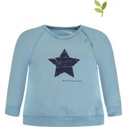 Bluza w kolorze błękitnym. Niebieskie bluzy dla dziewczynek bellybutton, z nadrukiem, z bawełny. W wyprzedaży za 42.95 zł.
