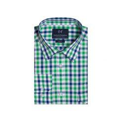 Koszula 1911 2. Zielone koszule męskie Guns&tuxedos, z bawełny, z klasycznym kołnierzykiem. Za 129.99 zł.