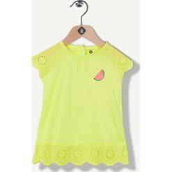 Tunika w kolorze żółtym. Bluzki dla dziewczynek Grain de blé et Lisa Rose, z haftami, z bawełny. W wyprzedaży za 32.95 zł.