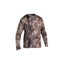 Koszulka myśliwska z długim rękawem RESPI 100 camo ACTIKAM-B. Brązowe bluzki z długim rękawem męskie SOLOGNAC, z materiału. Za 39.99 zł.