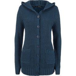 Sweter rozpinany z kapturem bonprix ciemnoniebieski. Kardigany damskie marki bonprix. Za 99.99 zł.