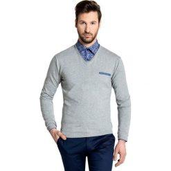 Sweter DARIO 16-01 JK. Brązowe swetry przez głowę męskie Giacomo Conti, z bawełny. Za 169.00 zł.