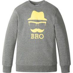 Bluza z nadrukiem bonprix szary melanż. Bluzy dla chłopców bonprix, melanż. Za 37.99 zł.