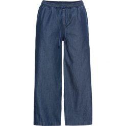 Szerokie dżinsy bez zamka w talii bonprix niebieski. Jeansy damskie marki bonprix. Za 89.99 zł.