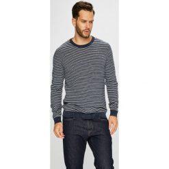 Selected - Sweter. Szare swetry przez głowę męskie Selected, z bawełny, z okrągłym kołnierzem. W wyprzedaży za 119.90 zł.