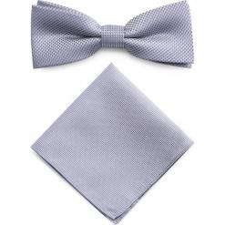 Mucha z poszetką MUH0001276. Szare krawaty i muchy Giacomo Conti, z mikrofibry, eleganckie. Za 69.00 zł.