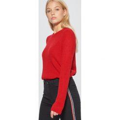 Sweter basic - Czerwony. Swetry damskie marki bonprix. Za 49.99 zł.