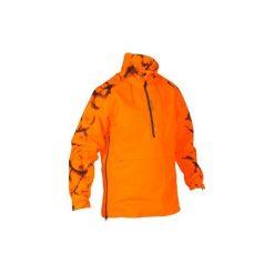 Bluza myśliwska SUPERTRACK FLUO. Brązowe bluzy męskie SOLOGNAC, z bawełny. W wyprzedaży za 199.99 zł.