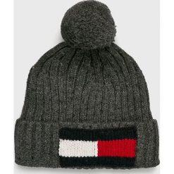 Tommy Hilfiger - Czapka. Czarne czapki i kapelusze męskie Tommy Hilfiger. Za 229.90 zł.