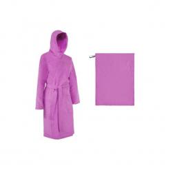 Zestaw szlafrok + ręcznik z mikrofibry L 80x130. Fioletowe szlafroki damskie NABAIJI, z materiału. Za 79.99 zł.