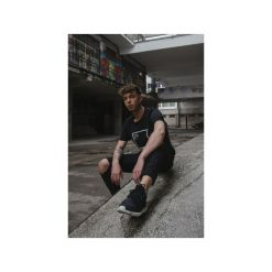 T-shirt Harptone / Męski. Czarne t-shirty męskie Harp team, z nadrukiem, z materiału. Za 79.00 zł.