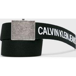 Calvin Klein - Pasek. Szare paski damskie Calvin Klein, w paski, z materiału. Za 179.90 zł.