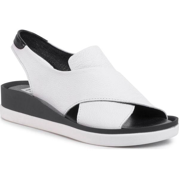 Sandały NESSI 18372 Biały Złoty Sandały codzienne